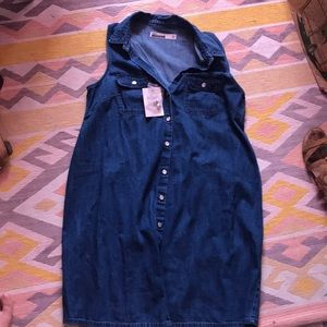 ASOS denim maternity dress UK size 12 NWT